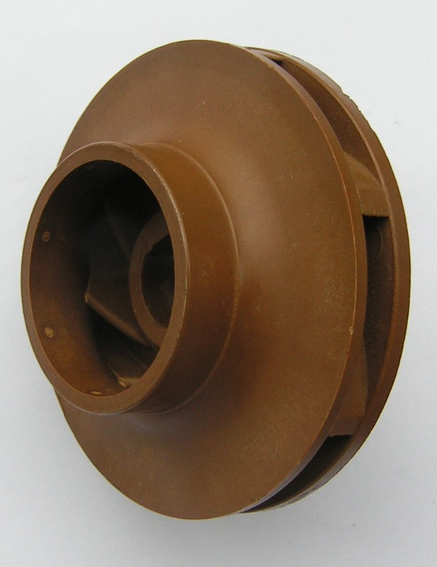 An impeller of a circulation pump is stuck from two parts PPS.