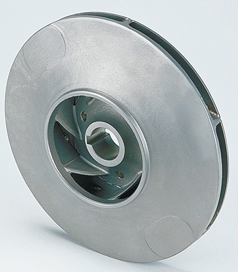 An impeller of radial pump from stainless steels.